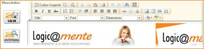 una schermata del programma per la gestione delle mailing list Logicamail